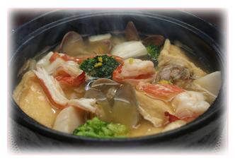 キッチンぷいぷい 海鮮鍋焼きうどん