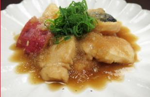 レシピ ちちんぷいぷい キッチンぷいぷい 11月21日 堺東にんにん 鶏むね肉のおろし煮