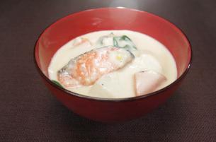 レシピ ちちんぷいぷい キッチンぷいぷい 12月6日 鮭の酒粕シチュー
