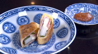 魔法のレストラン ミシュラン 餅の薄揚げ巻き 北新地 弧柳