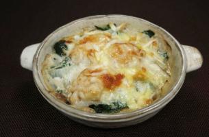 レシピ ちちんぷいぷい キッチンぷいぷい 餅と白子のグラタン 北新地 弧柳