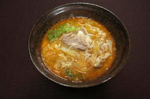 レシピ ちちんぷいぷい キッチンぷいぷい 豚肉と春雨のピリ辛スープ