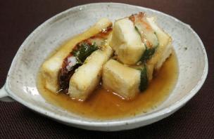 レシピ ちちんぷいぷい キッチンぷいぷい 鮭入りポテサラの揚げだし豆腐