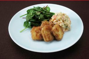 レシピ ちちんぷいぷい キッチンぷいぷい 節約料理 1月23日 豆腐 カリもち豆腐のタルタルソース