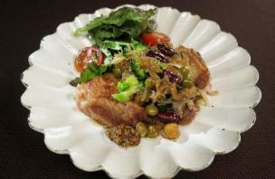 レシピ ちちんぷいぷい キッチンぷいぷい バレンタイン 鶏肉のガーリックバターソテー