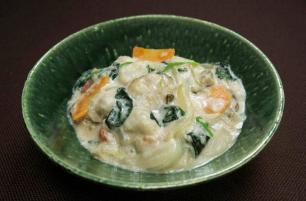 レシピ ちちんぷいぷい キッチンぷいぷい 牡蠣とほうれん草の和風クリーム煮
