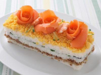おはよう朝日 レシピ アレンジ ちらし寿司 ミツカン ケーキ寿司 牛乳パック