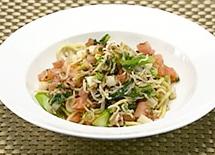 オーソレミーヨ レシピ ハイヒールモモコ 簡単 3月24日 中華麺で作るしらすと春野菜のパスタ