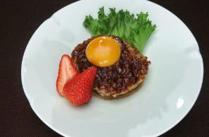 レシピ ちちんぷいぷい キッチンぷいぷい 3月12日 鶏肉と里芋のハンバーグ いちごの照り焼きソース