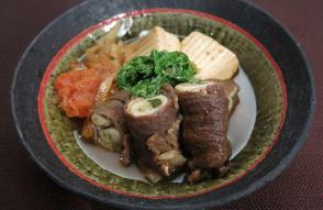 レシピ ちちんぷいぷい キッチンぷいぷい 3月14日 すき焼き風牡蠣の肉巻き