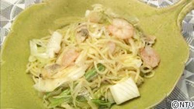 レシピの女王, ヒルナンデス, シンプルレシピ 6月4日 冷凍食品 シーフードミックス 海鮮ねぎそば