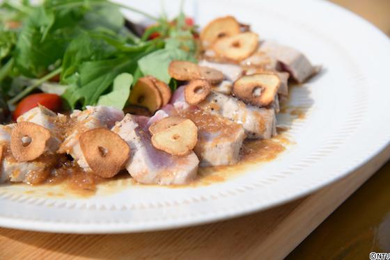 青空レストラン レシピ 作り方 7月28日 キハダマグロのガーリックステーキ