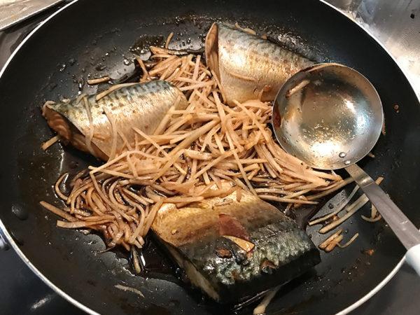 魚の煮付け サバの煮付け 新生姜