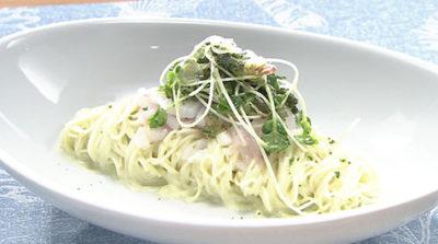おびゴハン レシピ 材料 作り方 イカと枝豆の冷たいパスタ
