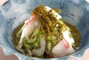 """上沼恵美子のおしゃべりクッキング レシピ 作り方 海の香り""""昆布と鯛の和えもの"""