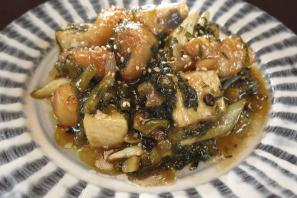 レシピ ちちんぷいぷい キッチンぷいぷい 鱈の高菜漬け炒め