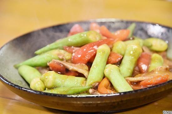 青空レストラン レシピ 作り方 9月1日 白オクラ 白オクラと豚肉の甘酢炒め