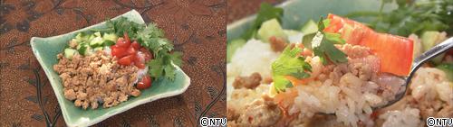 レシピの女王 ヒルナンデス シンプルレシピ 鶏ひき肉 エスニック 鶏そぼろ丼