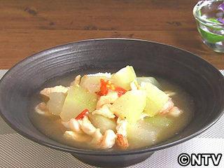 キューピー3分クッキング レシピ 作り方 材料 9月4日 冬瓜とえびのナンプラー煮