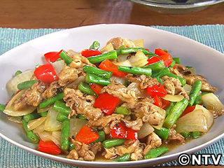 キューピー3分クッキング レシピ 作り方 材料 9月5日 豚肉とパプリカの豆チ炒め
