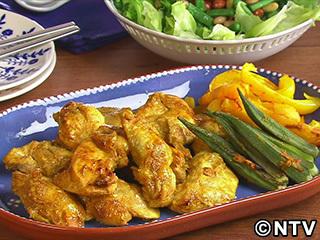 キューピー3分クッキング レシピ 作り方 材料 9月7日 鶏肉のタンドリー風