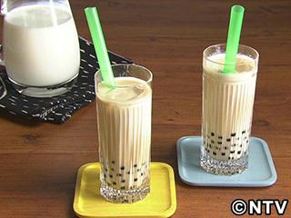 キューピー3分クッキング レシピ 作り方 材料 9月15日 黒糖タピオカミルク