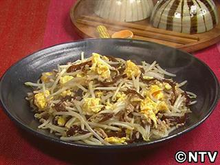 キューピー3分クッキング レシピ 作り方 材料 9月26日 もやし、豚ひき、卵のとろみ炒め