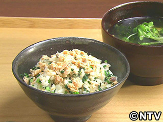 キューピー3分クッキング レシピ 作り方 材料 10月1日 鮭と小松菜の混ぜごはん
