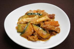 レシピ ちちんぷいぷい キッチンぷいぷい 作り方 材料 9月13日 かぼちゃと豚肉の黒酢炒め