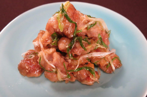 レシピ ちちんぷいぷい キッチンぷいぷい 作り方 材料 9月26日 鶏唐揚げの梅ごま和え