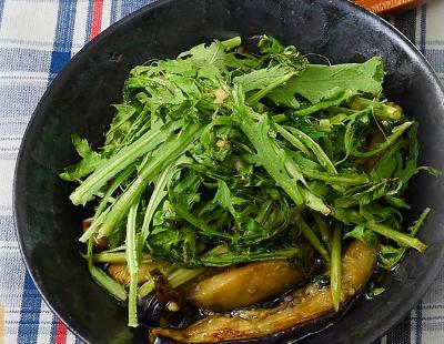 男子ごはん レシピ 作り方 国分太一 栗原心平 秋のおつまみ ナスと春菊の温サラダ