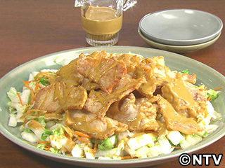 キューピー3分クッキング レシピ 作り方 材料 10月3日 豚肉と塩もみ白菜のソースまよがけ