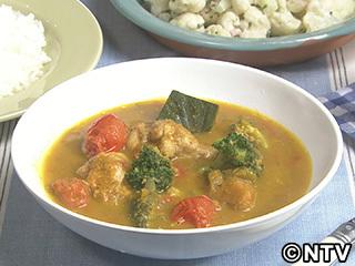 キューピー3分クッキング レシピ 作り方 材料 10月12日 鶏手羽元のスープカレー