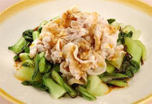 上沼恵美子のおしゃべりクッキング レシピ 作り方 チンゲン菜と豚肉のサラダ