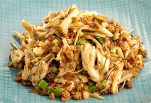 上沼恵美子のおしゃべりクッキング レシピ 作り方 きのこと挽肉の炒めもの