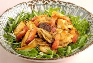 上沼恵美子のおしゃべりクッキング レシピ 作り方 きのことベーコンの生姜風味