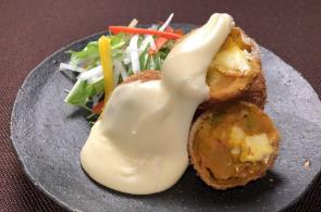 レシピ ちちんぷいぷい キッチンぷいぷい 作り方 材料 チーズとかぼちゃのコロッケ