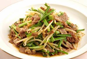 上沼恵美子のおしゃべりクッキング レシピ 作り方 簡単スピードメニュー 11月 牛肉とニラの炒めもの