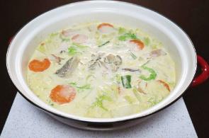 レシピ ちちんぷいぷい キッチンぷいぷい 作り方 材料 牡蠣クリーム出汁の海鮮鍋