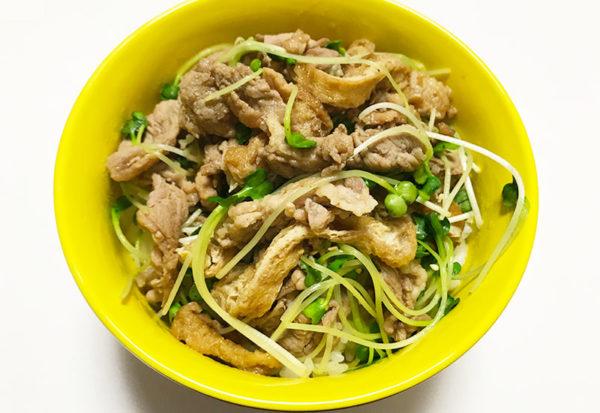 豚いなり丼 お手軽 レシピ 簡単