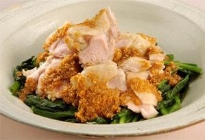 上沼恵美子のおしゃべりクッキング レシピ 作り方 簡単スピードメニュー 鶏とほうれん草の和え物