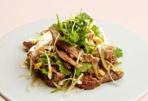 上沼恵美子のおしゃべりクッキング レシピ 作り方 12月 パーティーメニュー 牛肉の辛味和え