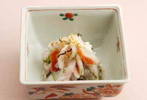 上沼恵美子のおしゃべりクッキング レシピ 作り方 12月 パーティーメニュー 鯛と柿のさっぱり和え