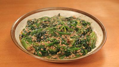 相葉マナブ なるほどレシピ 旬の産地ごはん 作り方 材料 ほうれん草 麻婆ほうれん草