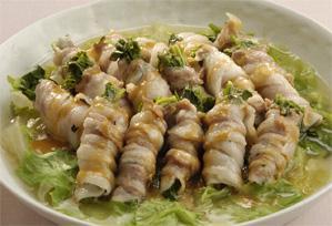 上沼恵美子のおしゃべりクッキング レシピ 作り方 芹の豚肉ロール蒸し