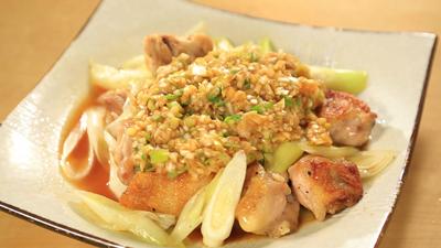 相葉マナブ なるほどレシピ 旬の産地ごはん 作り方 材料 千葉 ねぎ ネギと鶏肉の炒め物 万能ネギだれかけ
