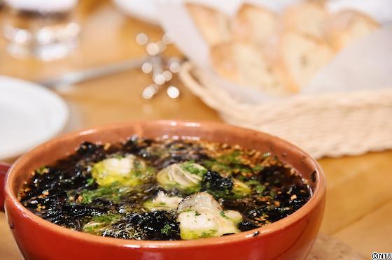 青空レストラン レシピ 作り方 2月23日 宮城 松島 皇室献上 アイザワ水産 海苔 海苔とカキのアヒージョ