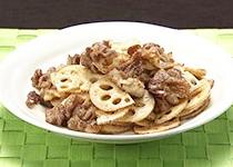 オーソレミーヨ レシピ ハイヒールモモコ 簡単 2月16日 豚肉とレンコンの辛子炒め