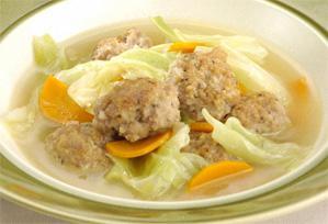 上沼恵美子のおしゃべりクッキング レシピ 作り方 ひき肉 ミートボールとキャベツのスープ