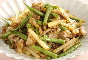 上沼恵美子のおしゃべりクッキング レシピ 作り方 スピードメニュー 豚肉とインゲンの炒めもの